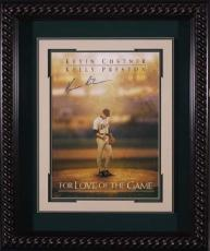For Love of the Game signed 22X30 Masterprint Poster Custom Rope Framed w/ Kevin Costner (entertainment/photo)