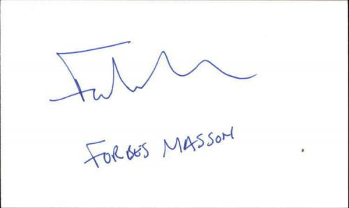 """FORBES MASSON RED DWARF Signed 3""""x5"""" Index Card"""