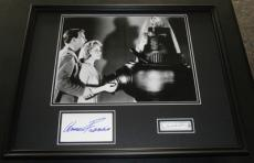 Forbidden Planet Anne Francis & Leslie Nielsen Dual Signed Framed Photo Display