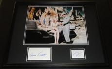 Forbidden Planet Anne Francis Leslie Nielsen Dual Signed Framed Photo Display C