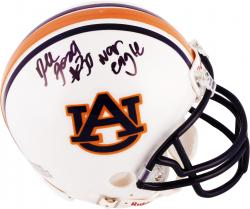 Dee Ford Auburn Tigers Autographed Riddell Mini Helmet with War Eagle Inscription - Mounted Memories