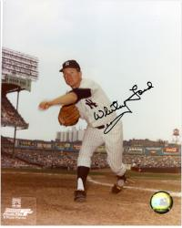 "Whitey Ford New York Yankees Autographed 8"" x 10"" Pitching Photograph"