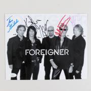 Foreigner Signed Photo (5) Mick Jones, Jason Bonham etc. 8×10 – COA JSA