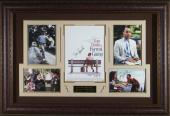 Forrest Gump Cast Signed Home Theater Display