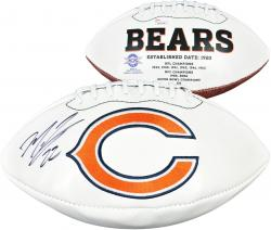 Matt Forte Chicago Bears Autographed White Panel Logo Football - Mounted Memories