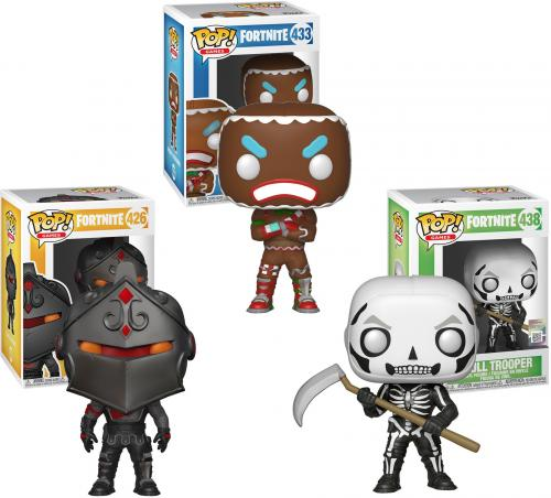 Fortnite - Black Knight, Skull Trooper & Merry Maruder Funko Pop! Animation Bundle