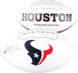 Arian Foster Houston Texans Autographed White Panel Football - Mounted Memories