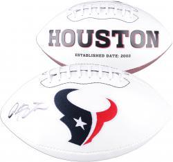 Arian Foster Houston Texans Autographed White Panel Football