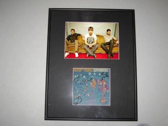 Foster the People Supermodel Group Signed Framed Matted CD Book 5x7 Photo Mark