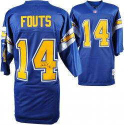 Dan Fouts San Diego Chargers Autographed Reebok Navy Jersey with HOF 93 Inscription