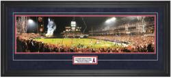 Los Angeles Angels of Anaheim Earn Their Wings in 2002 World Series Framed Unsigned Panoramic with Suede Matte