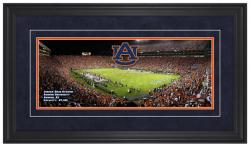 Jordan Hare Stadium Auburn Tigers Gameday Framed Panoramic - Mounted Memories