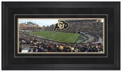 Folsom Field Colorado Buffaloes Gameday Framed Panoramic - Mounted Memories
