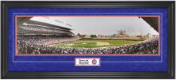 Chicago Cubs Wrigley Field Day Game vs. Braves Framed Unsigned Panoramic with Suede Matte - Mounted Memories