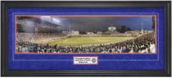 Chicago Cubs Wrigley Field Night Game vs. Rockies Framed Unsigned Panoramic Photograph with Suede Matte - Mounted Memories
