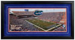 Ben Hill Griffin Stadium Florida Gators Gameday Framed Panoramic - Mounted Memories