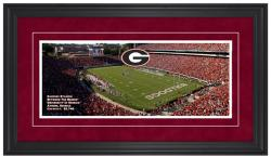 Sanford Stadium Georgia Bulldogs Gameday Framed Panoramic - Mounted Memories