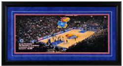 Allen Field House Kansas Jayhawks Gameday Framed Panoramic - Mounted Memories