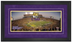 Tiger Stadium LSU Tigers Gameday Framed Panoramic - Mounted Memories