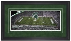 Spartan Stadium Michigan State Gameday Framed Panoramic - Mounted Memories