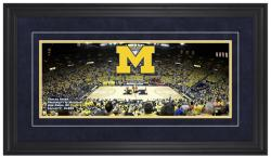 Michigan Wolverines Crisler Center Gameday Framed Panoramic - Mounted Memories