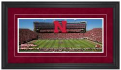 Memorial Stadium Nebraska Cornhuskers Gameday Framed Panoramic - Mounted Memories