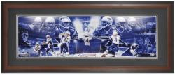 New England Patriots Snow Game 2003 Framed Unsigned Panoramic Photograph - Mounted Memories