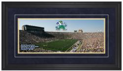 Notre Dame Fighting Irish Corner Game day Framed Panoramic - Mounted Memories
