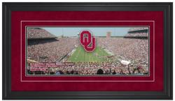 Gaylord Family Oklahoma Memorial Stadium Gameday Framed Panoramic - Mounted Memories