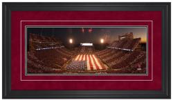 Gaylord Family Oklahoma Memorial Stadium Military Appreciation Night Gameday Framed Panoramic - Mounted Memories