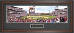 Philadelphia Phillies 2008 World Series Ring Ceremony Framed Panoramic Photograph with Suede Matte - Mounted Memories
