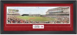 Cincinnati Reds First Pitch at Great American Ball Park Framed Unsigned Panoramic Photograph with Suede Matte