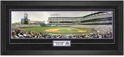 Colorado Rockies Coors Field Framed Unsigned Panoramic Photograph with Suede Matte