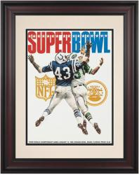 """1969 Jets vs Colts 10.5"""" x 14"""" Framed  Super Bowl III Program"""