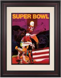 """1970 Chiefs vs Vikings 10.5"""" x 14"""" Framed  Super Bowl IV Program"""