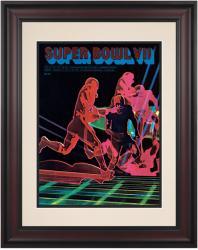 """1973 Dolphins vs Redskins 10.5"""" x 14"""" Framed Super Bowl VII Program"""