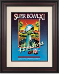 "1977 Raiders vs Vikings 10.5"" x 14"" Framed Super Bowl XI Program"