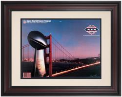 "1985 49ers vs Dolphins 10.5"" x 14"" Framed Super Bowl XIX Program"
