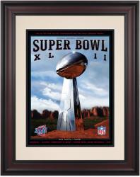 "2008 Giants vs Patriots 10.5"" x 14"" Framed Super Bowl XLII Program"