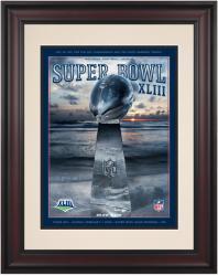 "2009 Steelers vs Cardinals 10.5"" x 14"" Framed Super Bowl XLIII Program"
