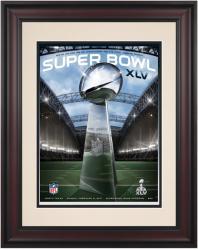 """2011 Packers vs Steelers 10.5"""" x 14"""" Framed Super Bowl XLV Program"""