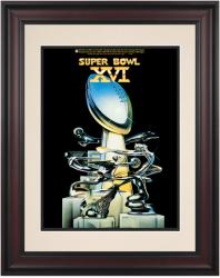 "1982 49ers vs Bengals 10.5"" x 14"" Framed Super Bowl XVI Program"