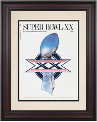 "1986 Bears vs Patriots 10.5"" x 14"" Framed Super Bowl XX Program"