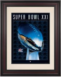 "1987 Giants vs Broncos 10.5"" x 14"" Framed Super Bowl XXI Program"