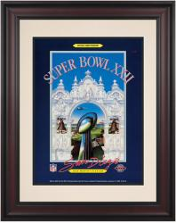 "1988 Redskins vs Broncos 10.5"" x 14"" Framed Super Bowl XXII Program"