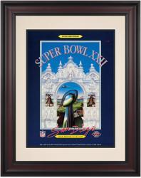 """1988 Redskins vs Broncos 10.5"""" x 14"""" Framed Super Bowl XXII Program"""