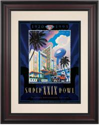 "1995 49ers vs Chargers 10.5"" x 14"" Framed Super Bowl XXIX Program"