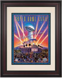 "1993 Cowboys vs Bills 10.5"" x 14"" Framed Super Bowl XXVII Program"
