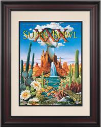 "1996 Cowboys vs Steelers 10.5"" x 14"" Framed Super Bowl XXX Program"