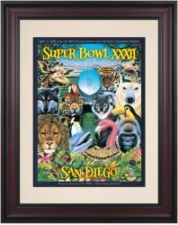 "1998 Broncos vs Packers 10.5"" x 14"" Framed Super Bowl XXXII Program"